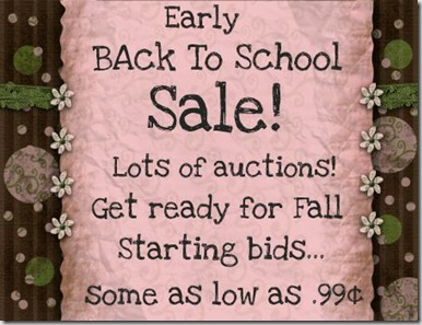 Sale Back to School