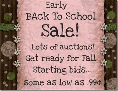 Sale Back to School