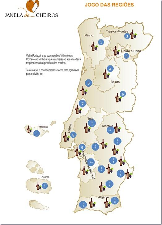 Mapa de Portugal- regiões  imagem 1-vinho-e-delicias