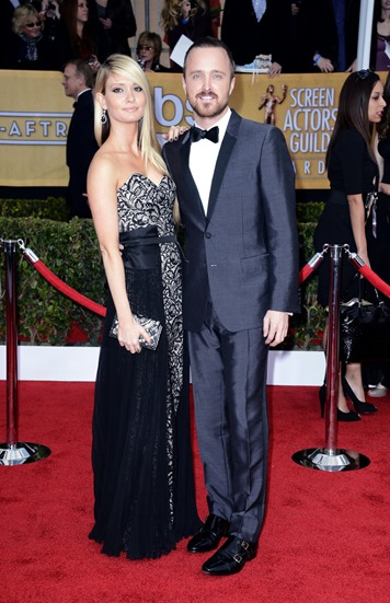 Aaron-Paul-had-Lauren-Parsekian-his-side-SAG-Awards