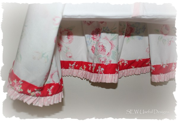 Rosies nappy stacker bottom frill