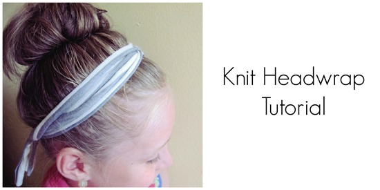 how to make a knit headwrap head band free tutorial from daydream believers