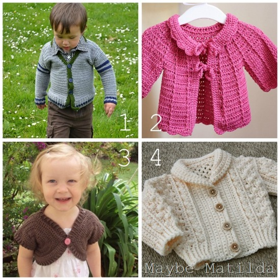 baby sweater collage