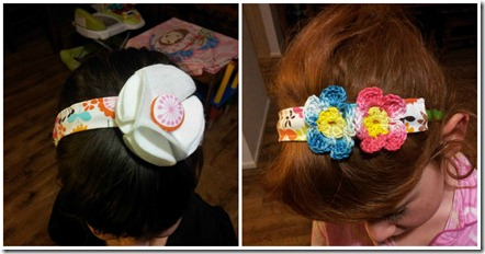 fabric headband Collage