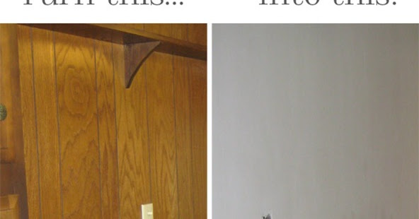 - CrEATe: How To Make Old Paneling Look Like Drywall