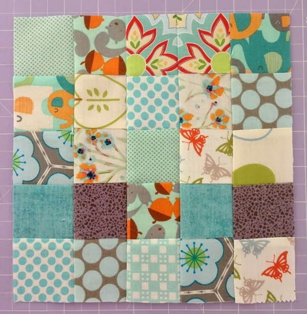 Scrappy Quilted Trivet Block