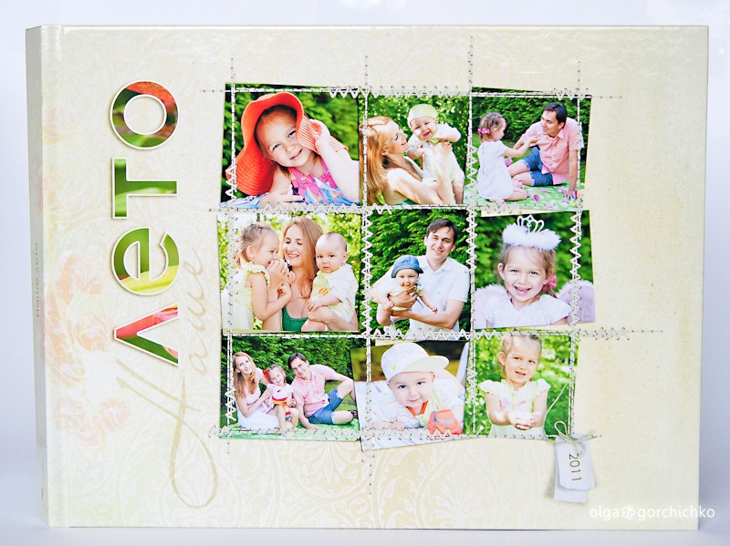 фотокнига с летней семейной фотосессией