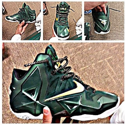 nike lebron 11 pe svsm away 1 01 First Look at Nike LeBron XI (11) SVSM Irish Away PE