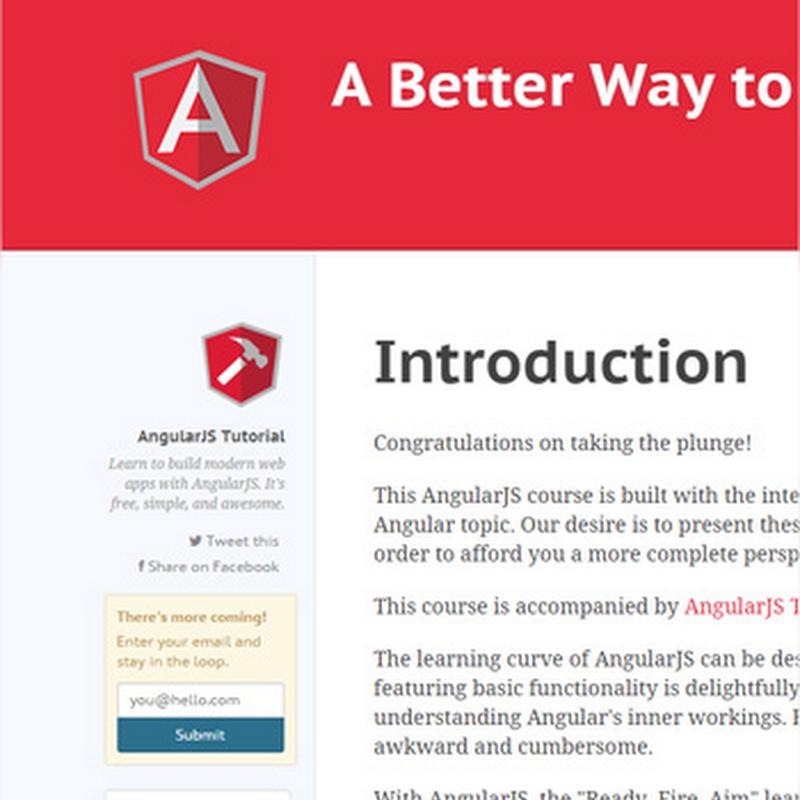 10 tutoriales para empezar a usar AngularJS
