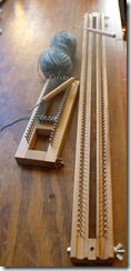 Sock loom and knitting board