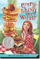 papperback book cover of Everything on a Waffle by Polly Horvath