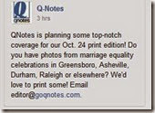 N.C. advocates monitoring anti-LGBT marriage discrimination QNotes goqnotes.com 32088