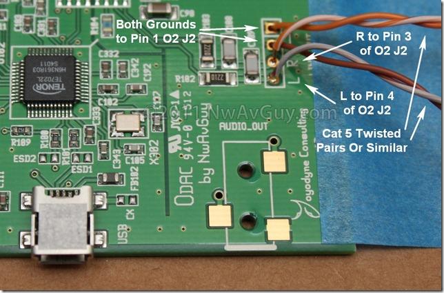odac to o2 wiring