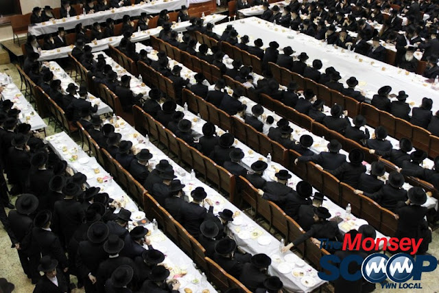 Yartzheit Tish For Stamar Rebbe Held In Satmar Beis Medrash Of Monsey (Photos by Moshe Lichtenstein) - IMG_5455.JPG