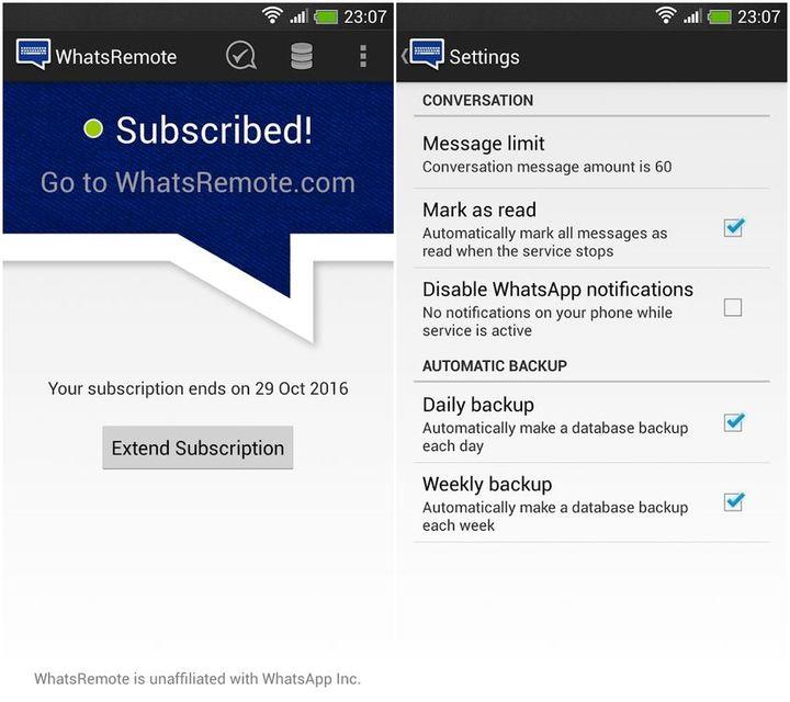 WhatsRemote applicazione Android