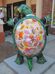 Florida Venice decorated tux turtle back with seashells2