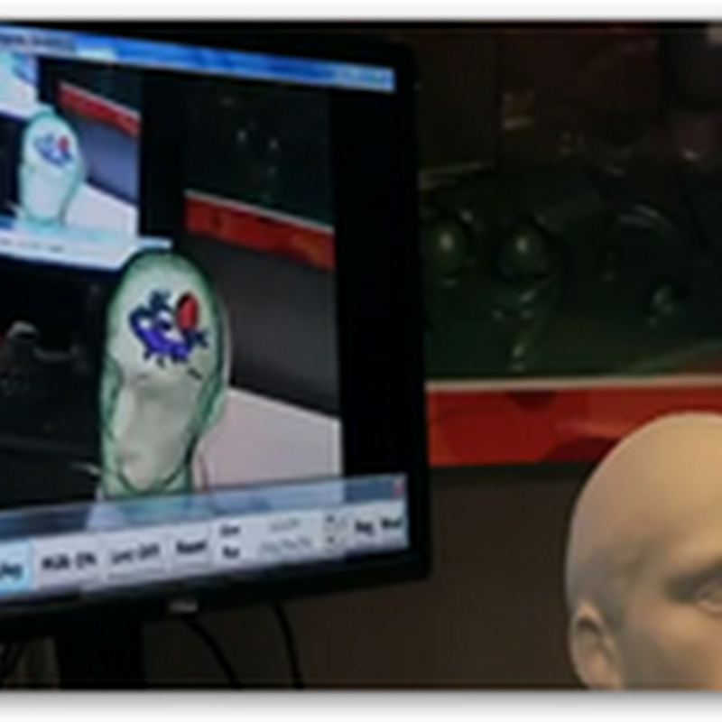 Augmented Reality With Using Kinect and a Tablet to See Inside Your Skull (Video)