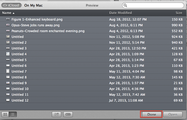 Preview File Dialog Box that opens when you start Preview just click done right now