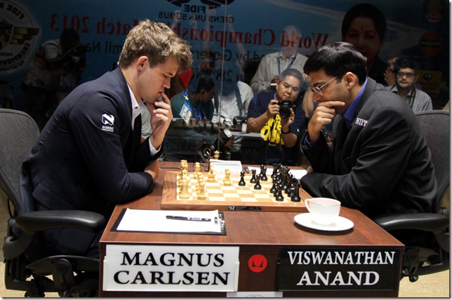 Game 5 - Carlsen vs Anand, FIDE World Chess Championship 2013