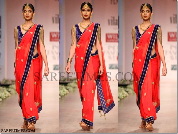 Rockys_Red_Saree