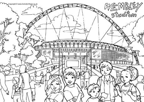 Wembley Stadium colouring page
