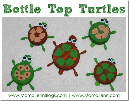 Bottle Top Turtle Crafts