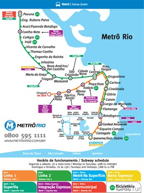 Mapa do Metrô RJ