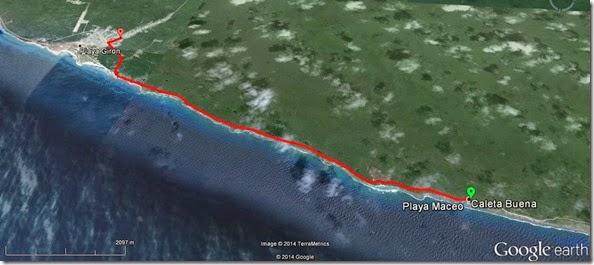 Mapa Caleta Buena - Playa Girón