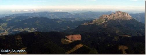 Peña Udala - vista desde el Anboto - Bizkaia