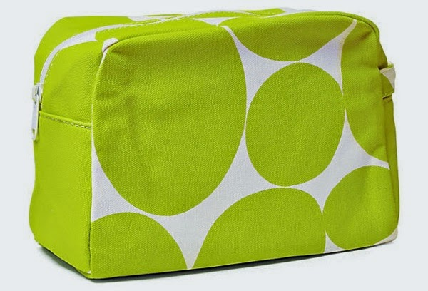 Large cosmetic bag neon green OKL