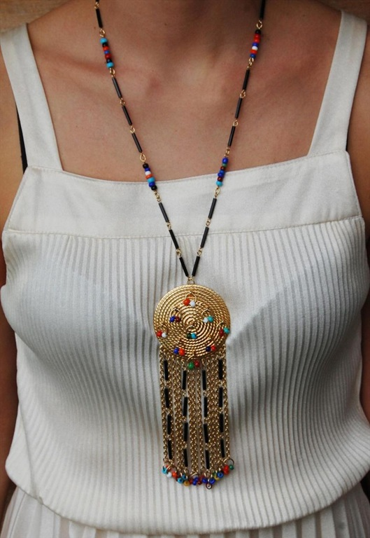 1970's Gold Tone Tribal Necklace, £35, Boutique by Susan Caplan