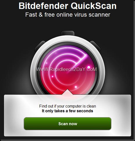 Bitdefender Quick Scan
