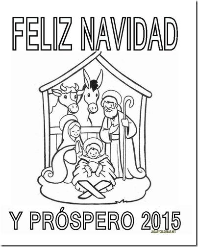 FELIZ NAVIDAD Y PROSPERO AÑO NUEVO 2015 COLOREAR 1