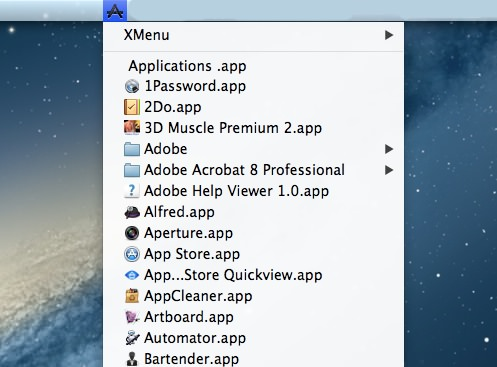 2Mac App Utilities XMenu