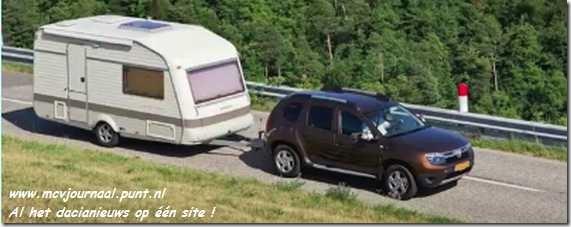 Dacia Duster met caravan