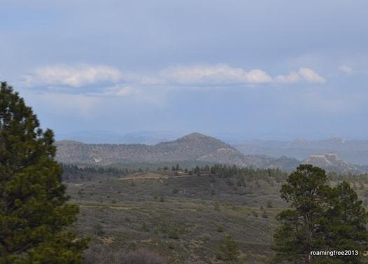 Looking back toward Durango