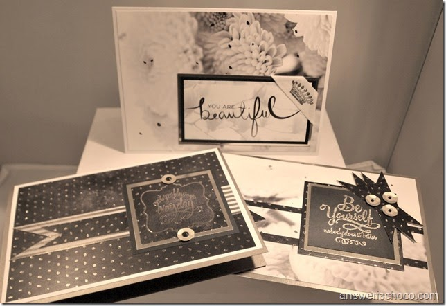 DCWV Decor Noir Cards