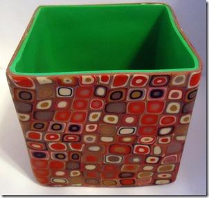 bottom of brown retro box lid off