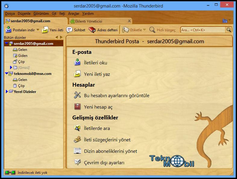 Mozilla Thunderbird indir v17.07 Türkçe