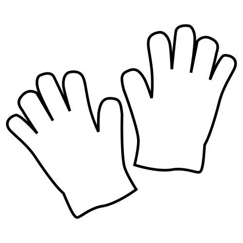 Imagenes de guantes para colorear - Imagui