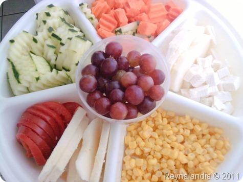 Comer saludable comida light ensaladas
