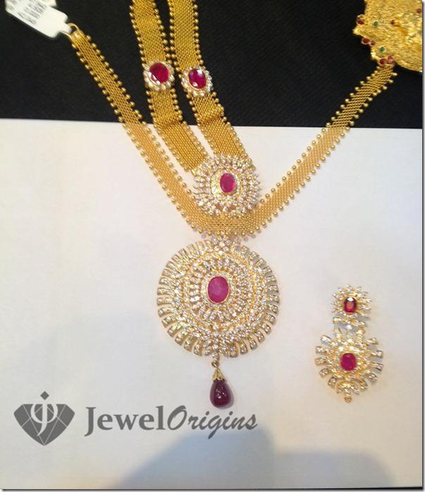 Designer short necklace jewelorigins indian designer gold and related posts diamond pendant aloadofball Gallery