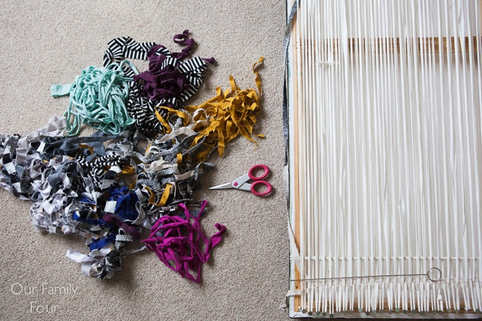 Woven Fabric Scrap Wall Art 6