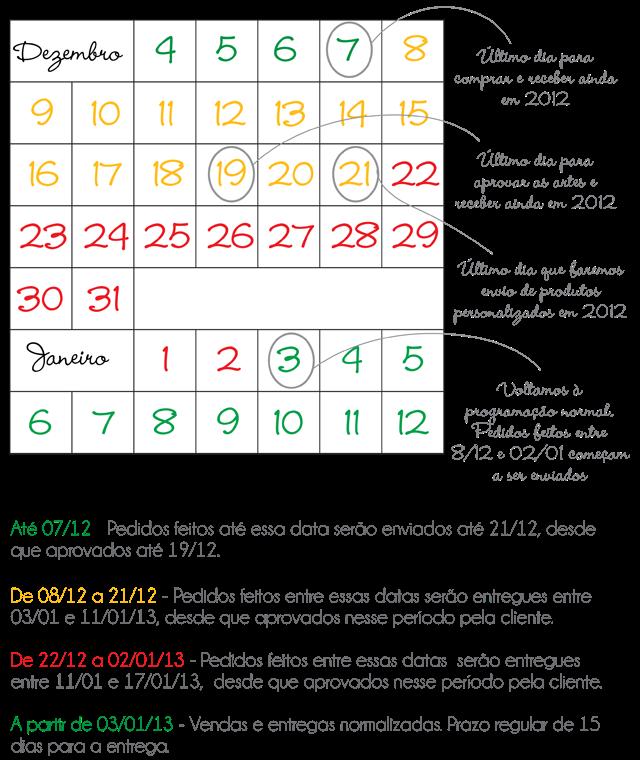 Calendário 2012-2013