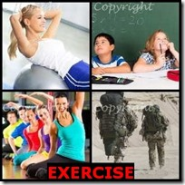EXERCISE- 4 Pics 1 Word Answers 3 Letters