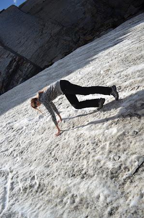 Alexandra Kovacova in Glacier Martial, Tierra del Fuego, Argentina.JPG