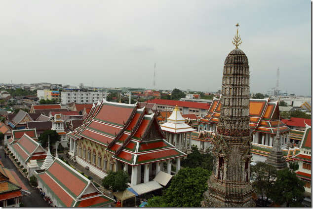 A city view from the top of Wat Arun in Bangkok