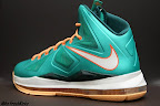 nike lebron 10 gr miami dolphins 4 09 Gallery: Nike LeBron X Miami Setting or Dolphins if you Like