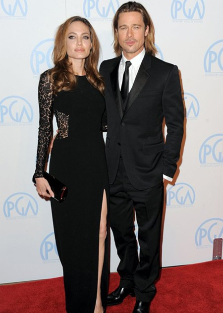 Jolie and Pitt at Producers Guild Awards