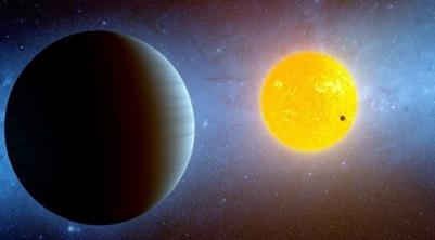 exoplaneta Kepler10c em seu sistema estelar